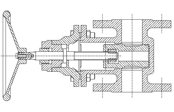 MT 156 Montage de robinet-vanne à coin et soupape à tête