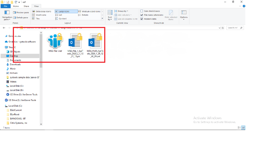 view output file
