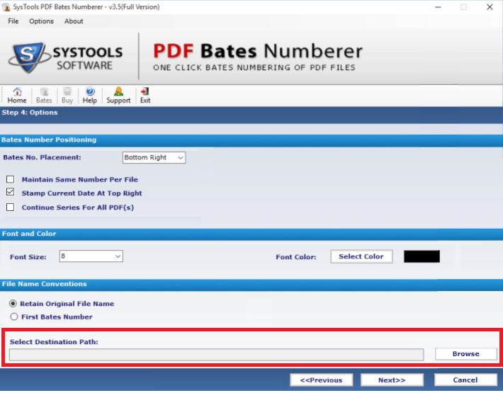 add bates number to pdf
