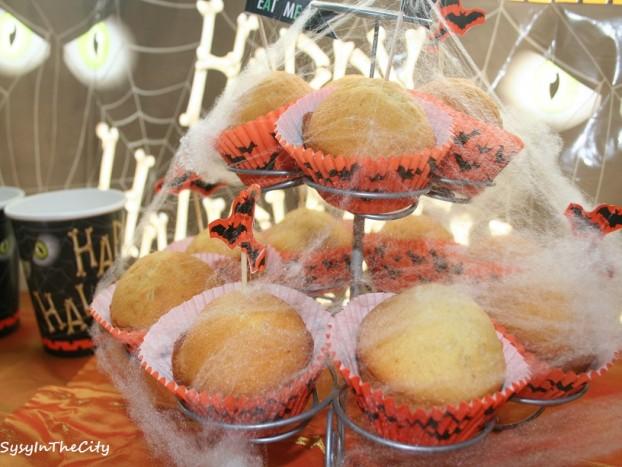 cupcakes araignée