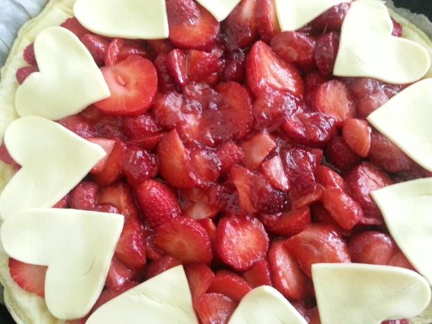 prépa tarte fraises