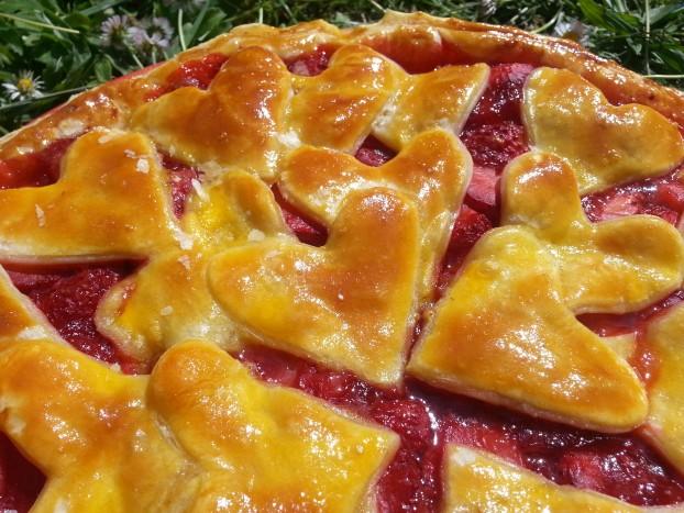 tarte fraises coeurs