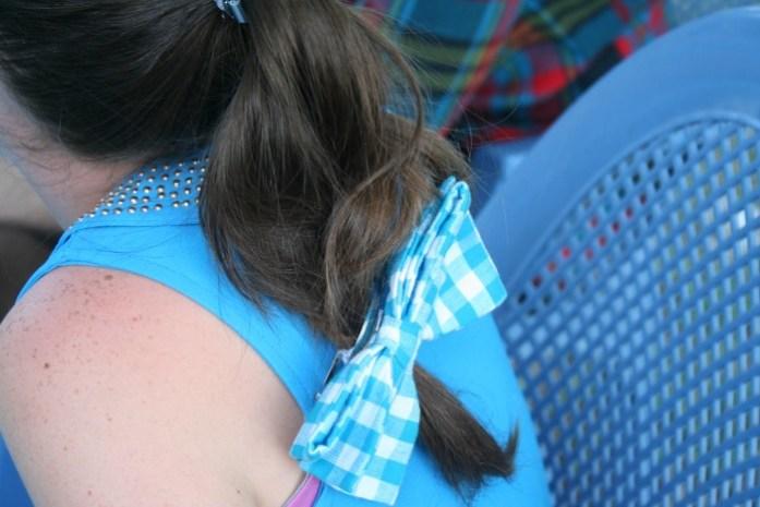 noeud dans les cheveux