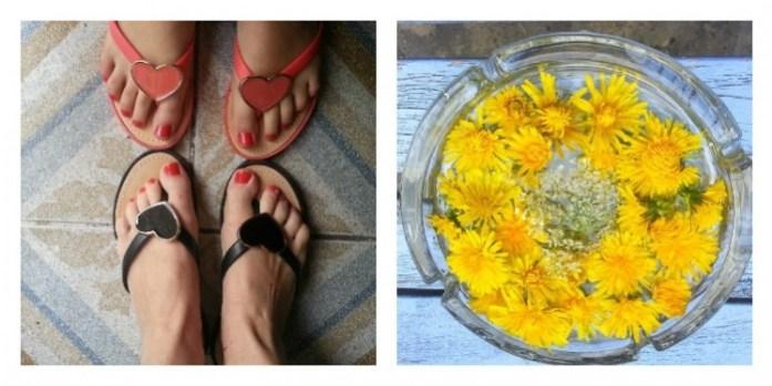 tongs fleurs
