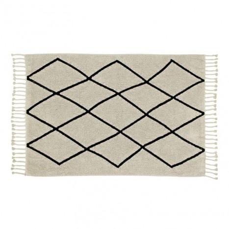 black-and-white-bereber-beige-noir-avec-franges-lavable-par-lorena-canals