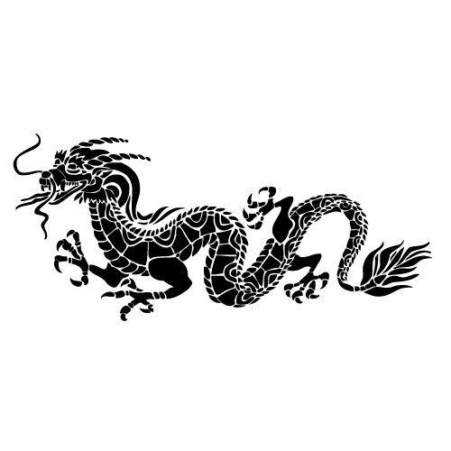 Szablon malarski z tworzywa, wielorazowy, wzór Feng Shui 6