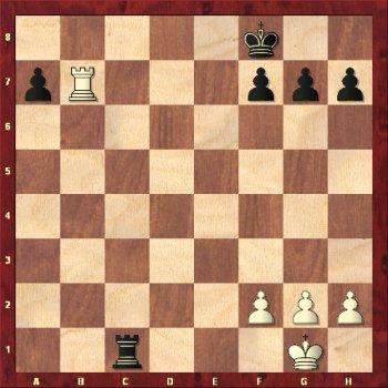 Biały król zamatowany na pierwszej linii