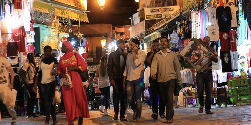 Maroko Uliczki Marrakeszu