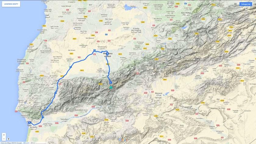 Koszty podróży do Maroka - zarys trasy wyprawy do Maroka