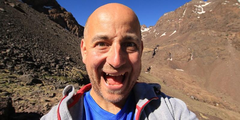 Maroko - Robert Gondek w górach