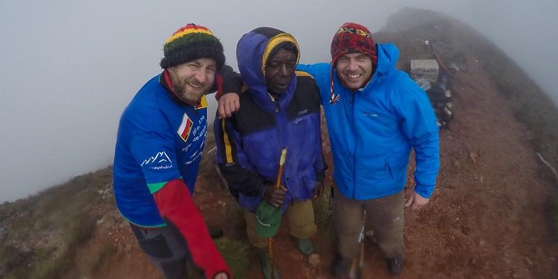 Na wierzchołku Mount Cameroon