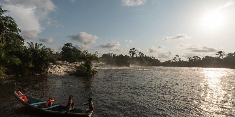 Wodospad Chutes de la Lobe