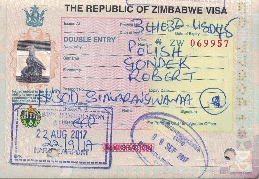 Koszt podróży do Zimbabwe - wiza Zimbabwe
