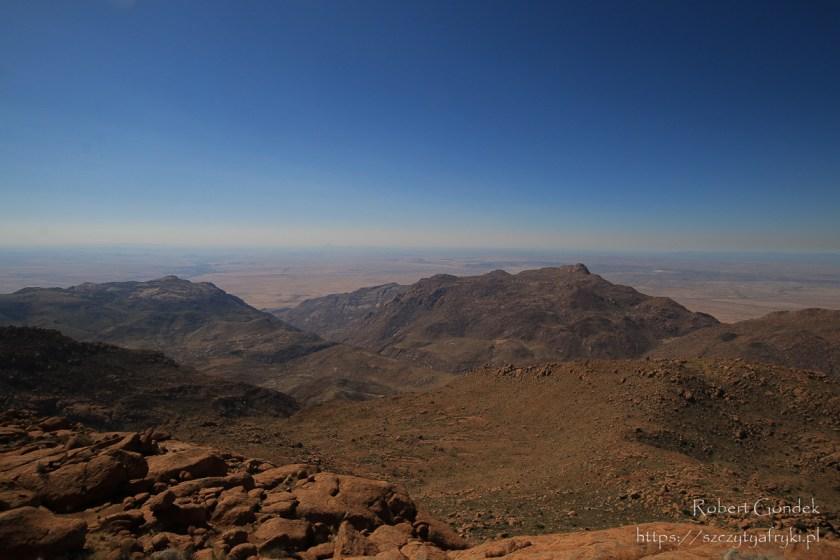 Panorama gór Brandberg