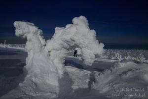 Prawdziwa zima w Karkonoszach