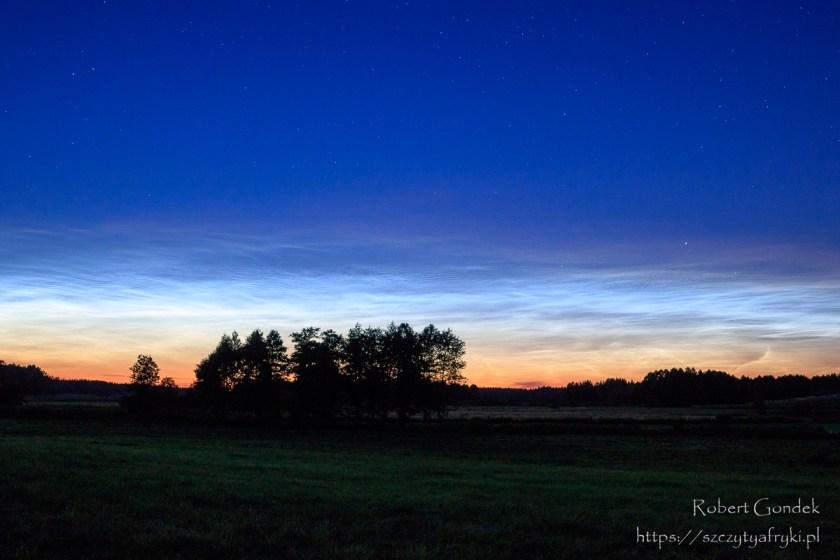 Zachód słońca w Puszczy Knyszyńskiej