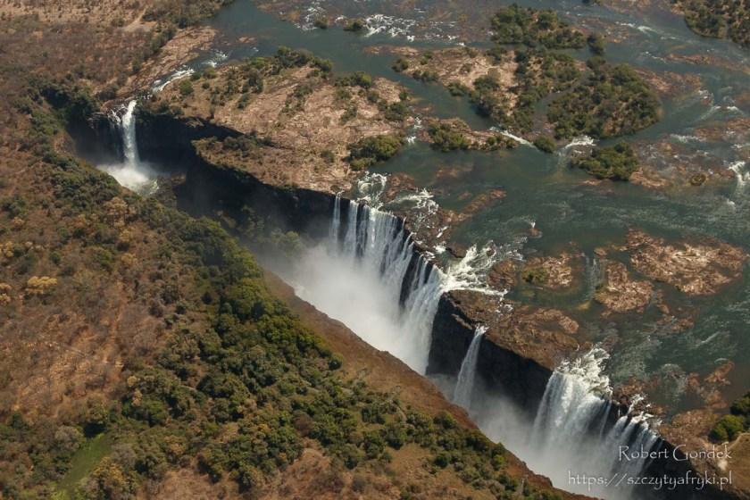 Wodospady Wiktorii w Zimbabwe