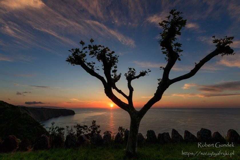 Zachód słońca na Azorach