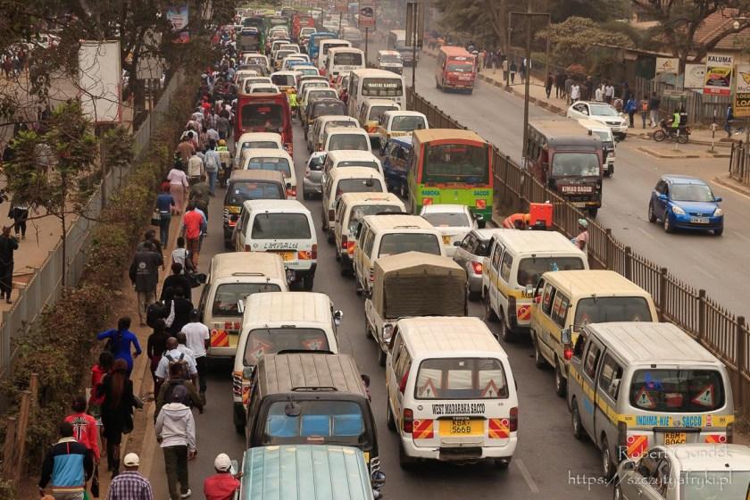 Korki uliczne w Nairobi