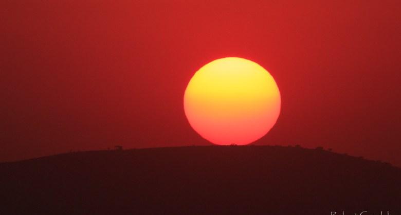Zachód słońca – widok z Aruszy