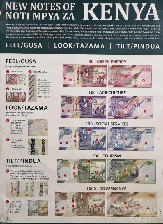 Nowe banknoty kenijskie