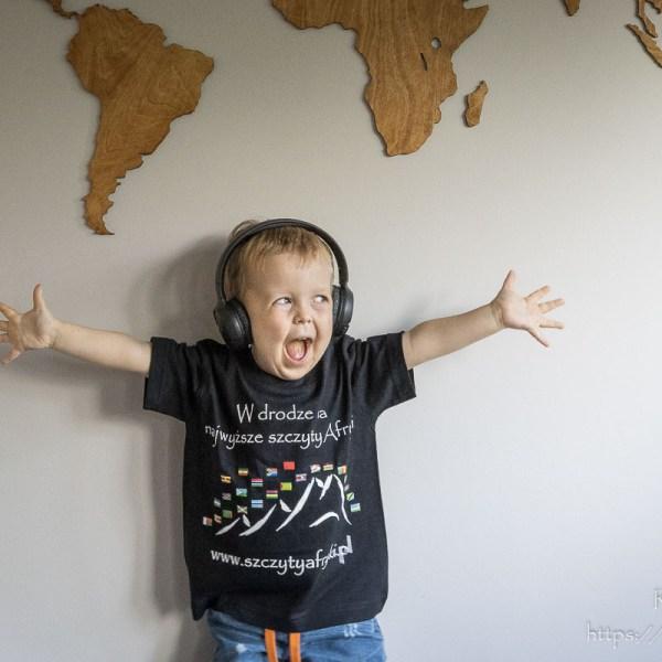 Koszulka z afrykańskimi flagami dla chłopca