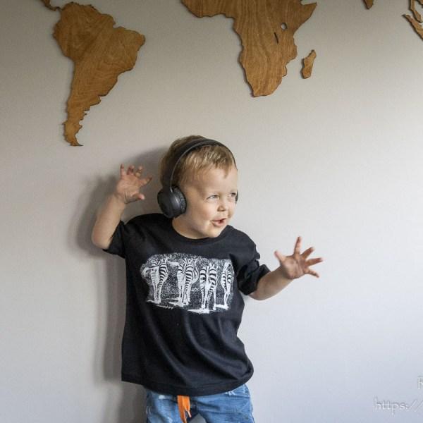 Koszulka z zebrami dla chłopca