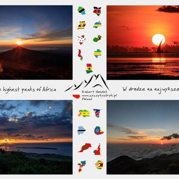 Zdjęcia zachodów słońca w Afryce