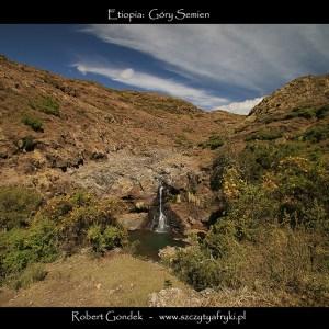 Zdjęcie wodospadu w Górach Semien