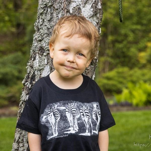 Koszulka z zebrami dla niemowlaków