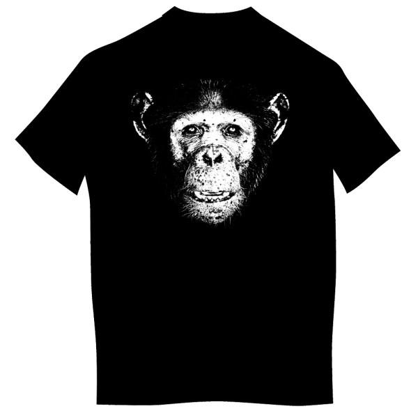 T-shirt z nadrukiem dla dorosłych - szympans