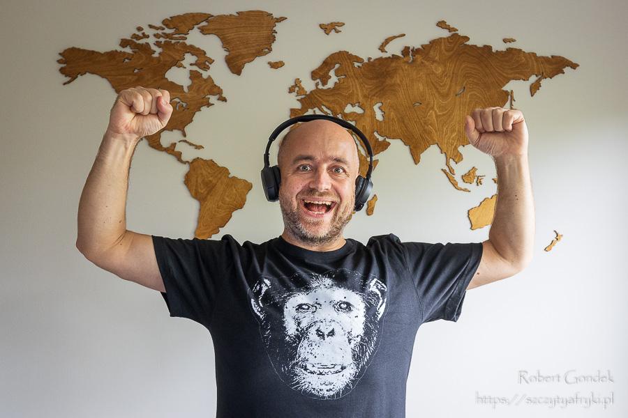 T-shirt z szympansem dla dorosłych