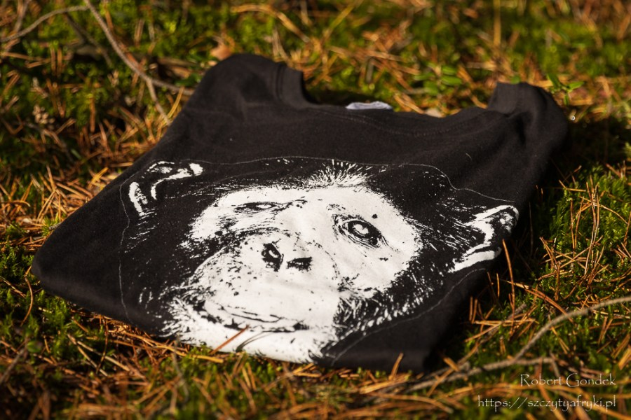 Męska i damska koszulka z szympansem