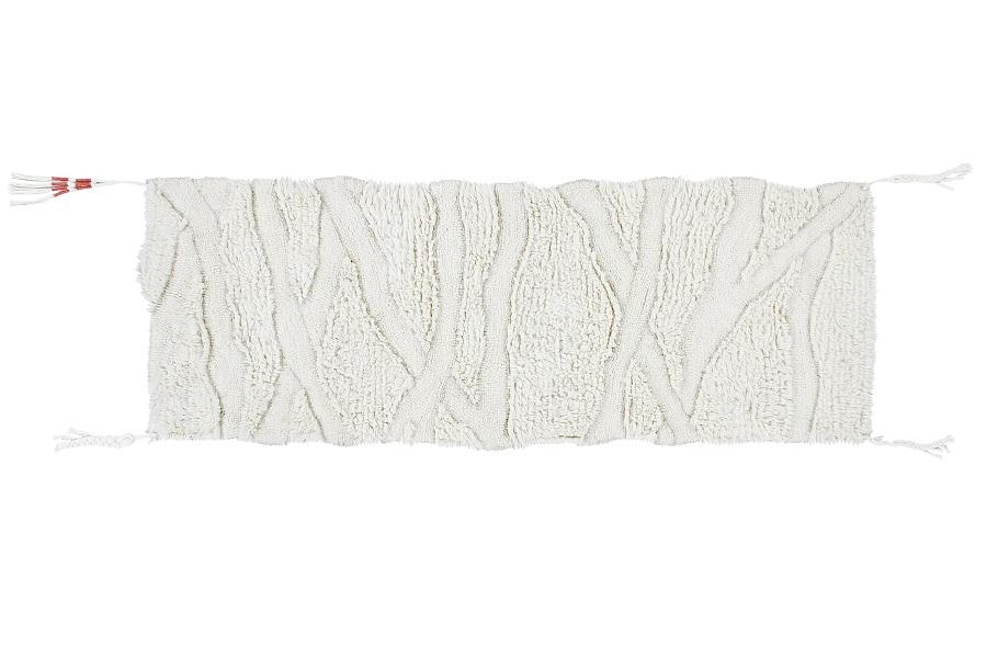 Wąski dywanik z wełny Enkang Ivory