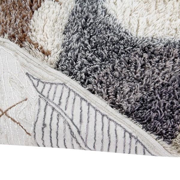 Wełniany dywan z motywem afrykańskiej tarczy - afrykańska inspiracja