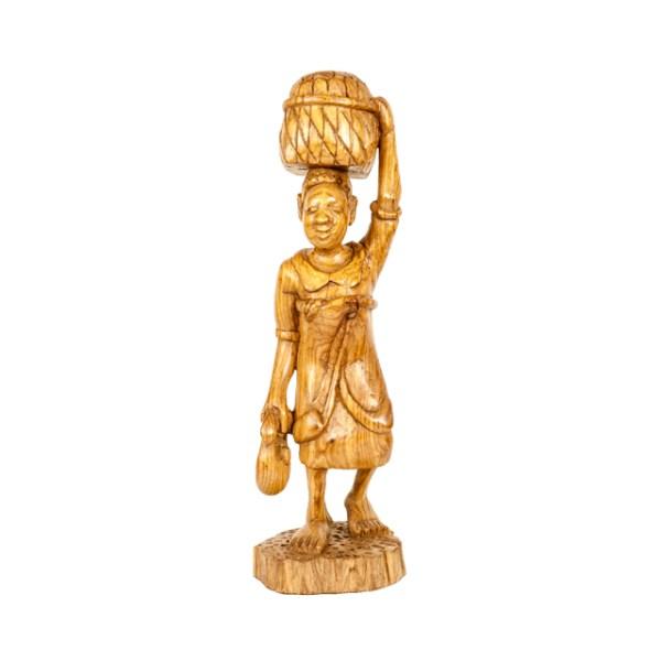 Rzeźba kobiety z Malawi