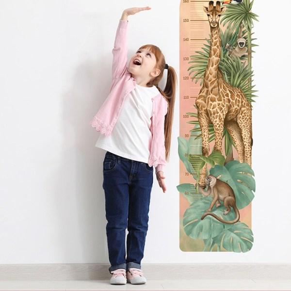 Oryginalna miarka wzrostu z żyrafą dla dzieci - naklejka na ścianę