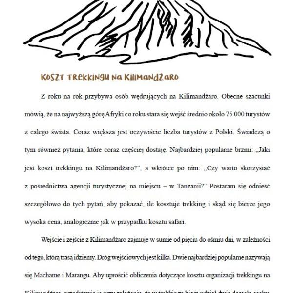 Poradnik przed podróżą do Afryki - fragment o wulkanie Kilimandżaro