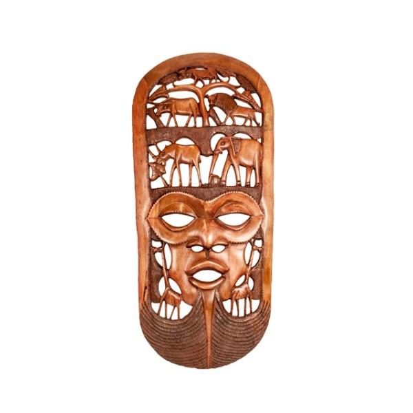 Wielka afrykańska maska z drewna