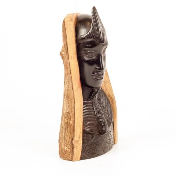 Drewniane popiersie z Tanzanii - sztuka z Afryki