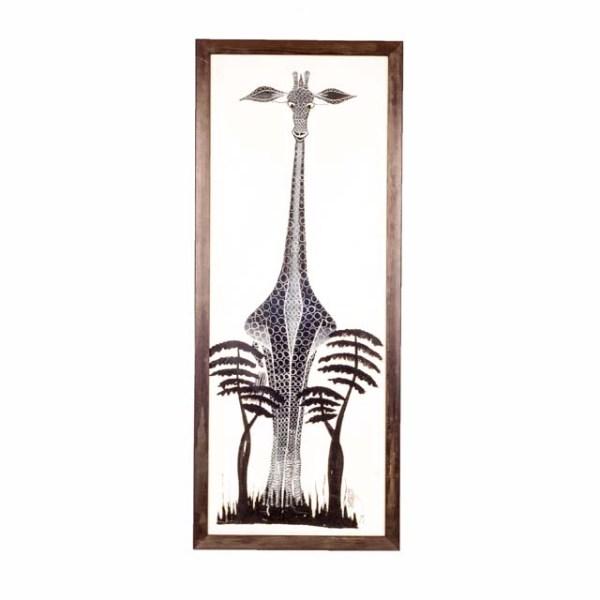 Czarno-biały obraz żyrafy afrykańskiej