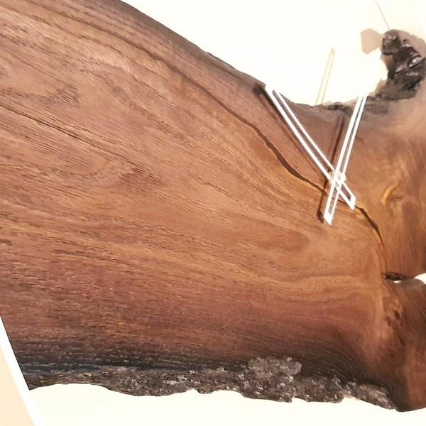 Drewniany zegar ścienny - afrykański styl Loft dekoracje z drewna