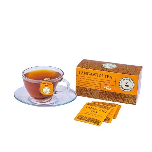 Smaczna czarna herbata z imbirem z Afryki