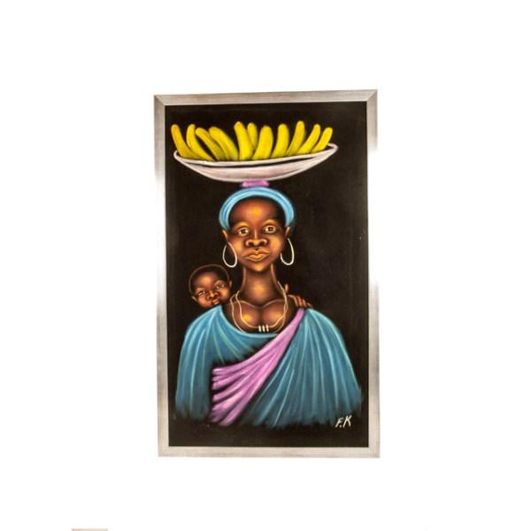 Kobieta z dzieckiem - obraz z Afryki
