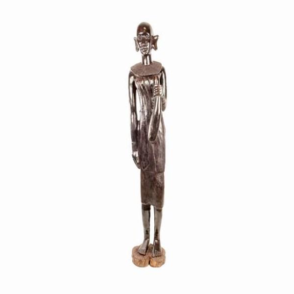 Duża rzeźba afrykańskiej masajki z Tanzanii