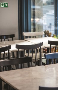 Dining tables in restaurant. Selective focused.