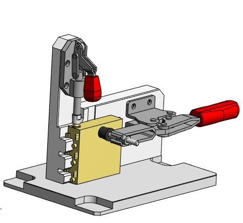 Rys.1 Dociskacze GN 820 i GN 842 w przyrządzie do mocowania kuli w zaworze sterowania.