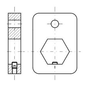 Rys. 7. Zmodyfikowana płyta montażowa wskaźnika serii DD