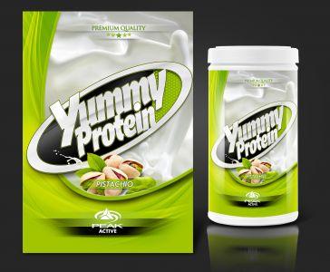 Peak Active Protein Pistachio csomagolás design