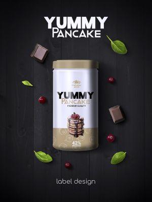 Yummy Pancake csomagolás terv